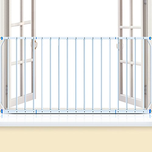 Window Balcony Guards Guardrail Fence Baby Children Safety Protective Net Metal High-rise,165-230cm, Height 77cm -
