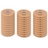 uxcell Plastic Hotel Bedroom Round Window Panel Drapery Curtain Rod Pole Rings 30 Pcs Gold Tone