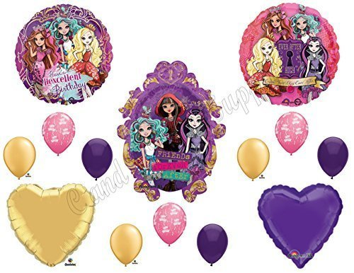 EVER AFTER HIGH Happy Birthday Balloons Decoration Supplies Monster Hexcellent by Anagram]()