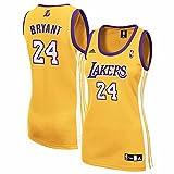 NBA Women's Los Angeles Lakers Kobe Bryant Replica Jersey (Gold, X-Large)