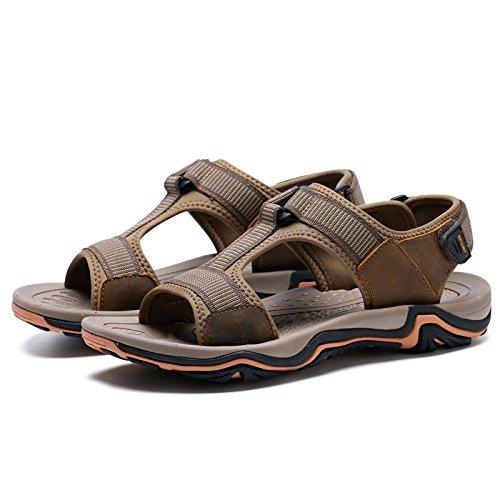 Zapatos Libre Casuales Al Hombres De Verano Playa De Aire Marrón para De Hombres para Zapatos Sandalias rprFq6wn