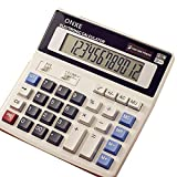 Calculator, ONXE Standard Function Scientific Electronics Desktop Calculators, Solar and Battery Dual Power, Big Button 12 Digit Large LCD Display, Handheld for Daily and Basic Office