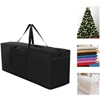 """Awhao 600D Oxford Fabric Christmas Tree Storage Bag with Handle and Zipper 22"""" Height X 16"""" Wide X 48"""" Long Garden Furniture Cushion Storage Pouch"""