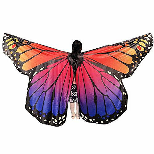 Butterfly Wings Toys Kids Baby Girl Belly Dancing Costume Unisex Children Butterfly Wings Dance Accessories No Sticks ICODOD(Hot Pink3)