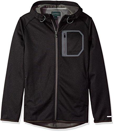 D&g Mens Clothing (G.H. Bass & Co. Men's Full Zip Fleece Hoodie Jacket, Black Heather, Medium)