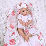 Paradise Galleries Newborn Baby Doll 16 inch Reborn Preemie, Swaddlers: Rose Petal, Safety Tested 3+, 4-Piece Set