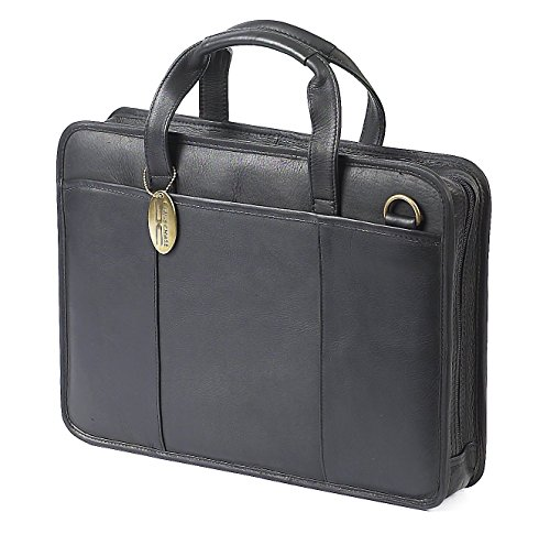 Claire Chase Small File Leather Briefcase in Black ()