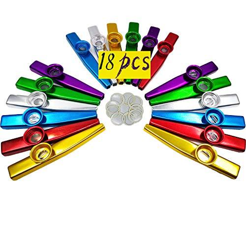 18 Kazoos Metalicos + 20 Diafragmas de Flauta