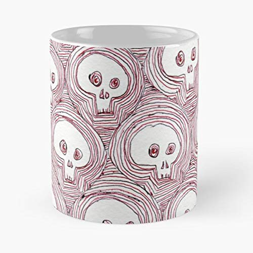 Skulls Halloween Pattern Repetition - Coffee Mugs,handmade Funny 11oz Mug Best Holidays Gifts For Men Women Friends. -