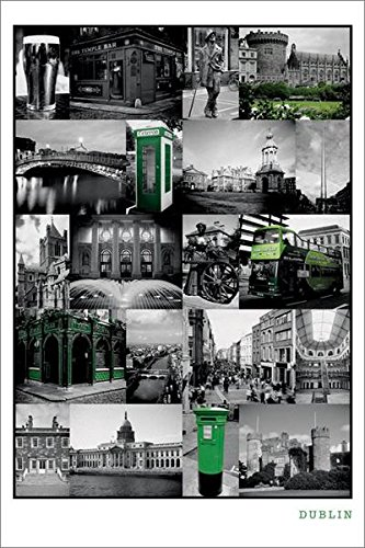 Dublin Collage Art Print Poster