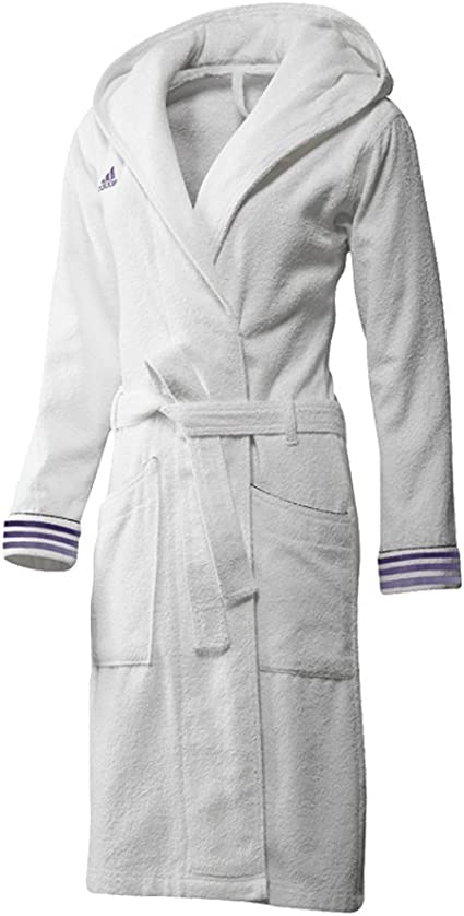 adidas X13092 Peignoir de bain pour femme BlancViolet