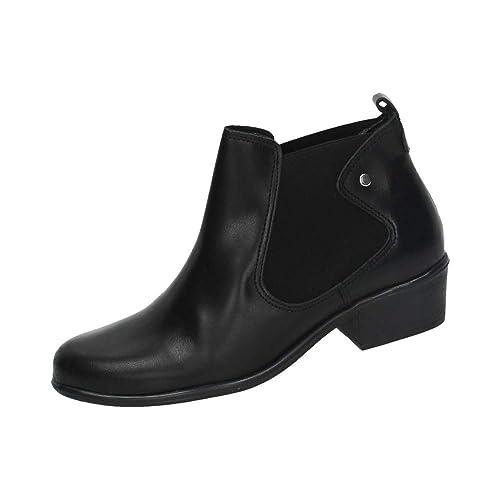 ccbf658c6ca MADE IN SPAIN 5335 BOTÍN Negro DE Piel Mujer Botines Negro 37  Amazon.es   Zapatos y complementos