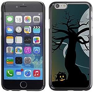 Apple (5.5 inches!!!) iPhone 6+ Plus / 6S+ Plus - Metal de aluminio y de plástico duro Caja del teléfono - Negro - Halloween Haunted House