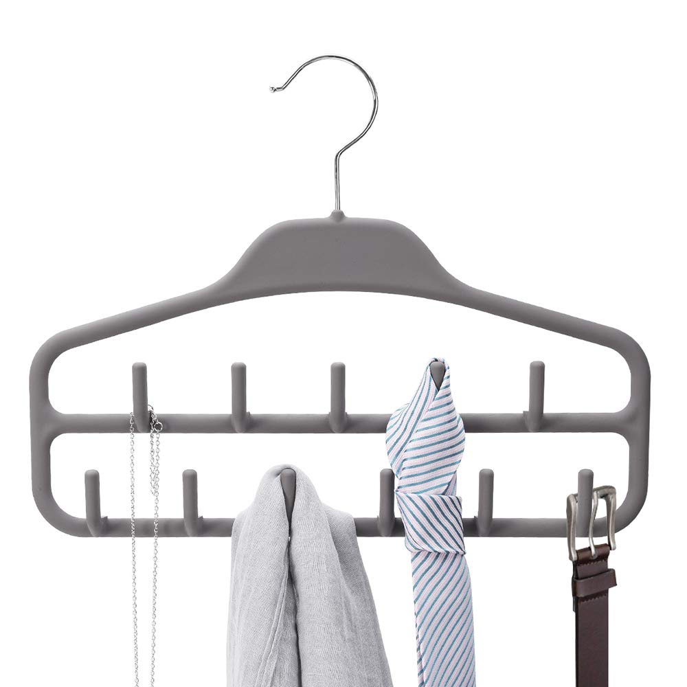 Storage Holders & Racks 2pcs Closet Double Hook Clothes Storage Rack Tie Multi-purpose Plastic Bags Hanger Rotatable