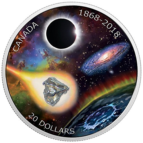 2018 CA Anniversary of the Royal Astronomical Society of Canada 1 oz. Pure Silver Coloured Coin Meteorite 20 Mint...
