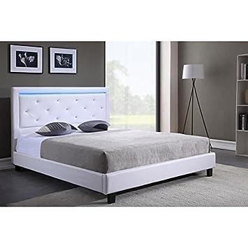 Générique Filip lit Adulte avec LED Multicolore 140x190 cm + Tete de lit  avec Strass + b0ff63134910