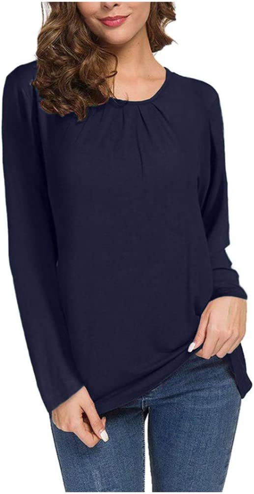 Bleu marine foncé faux col roulé-Homme Bleu nuit Coton Chemise Manches Longues Top