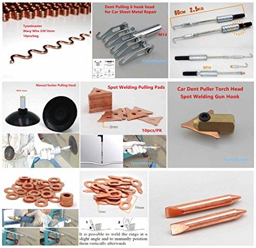 TrianglePad/_10pcs Dent Pulling Tools Spot Welding Accessories Dent Puller for Car Sheet Metal Repair