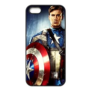Hipster Captain America Super Fit iPhone 4/4s Case Pattern Design Solid Rubber Customized Cover Case for iPhone 4 4s 4s-linda863