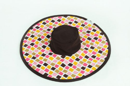 MoBoleez Tropical Tiles Breastfeeding Hat, Brown/Pink, 0-6 Months, Baby & Kids Zone