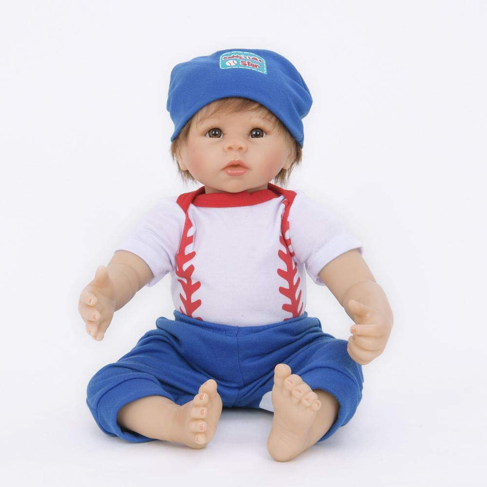 autorización oficial Hongge Reborn Baby Doll,Muñeca Doll,Muñeca Doll,Muñeca de Renacimiento Realista del bebé del silicón Regalo de Juguete de la muñeca del niño 55cm  promocionales de incentivo