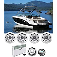 (4) MB Quart NK1-169 6.5 Marine Speakers+Bluetooth Receiver+Amplifier+Subwoofer