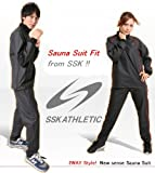 SSK Sauna Suit Weight Loss FIT (Japan Import) (Black, O) For Sale
