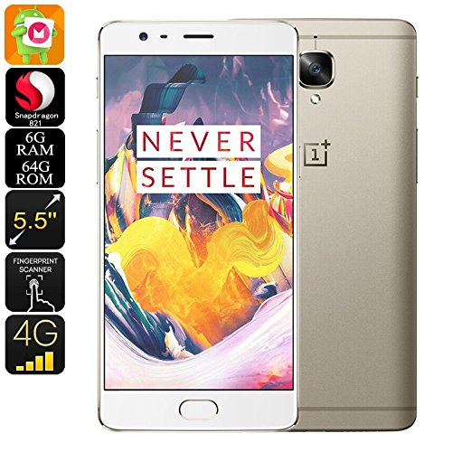 OnePlus 3T Gray, 6GB RAM, 64 GB, 5.5 Inch International Version