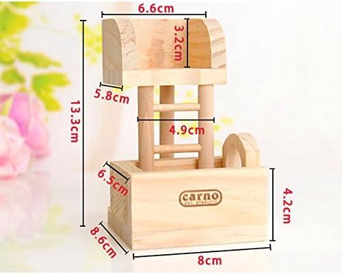 frixie (TM) hámster conejo de madera juguete divertido escalada escalera Lookout Tower rata ratón, ejercicio juguete: Amazon.es: Productos para mascotas