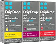 DripDrop ORS – Patented Electrolyte Powder for Dehydration Relief Fast - For Workout, Hangover, Illness, Sweat