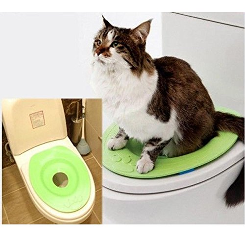 NABIUGI Cat Kit Kitty Pet Toilet Seat Training - Toilet Kwitter Litter Training