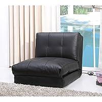 Darlington Black Leather Single Sleeper Chair