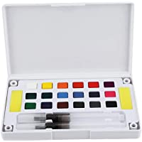 Acuarela Pintura Sólidos Pigmentos Arte Profesional Colores de Agua Set Variedad de Paleta Perfecta para Pintar Dibujo Colorido Dibujo de Campo Doodling(18 Colores)