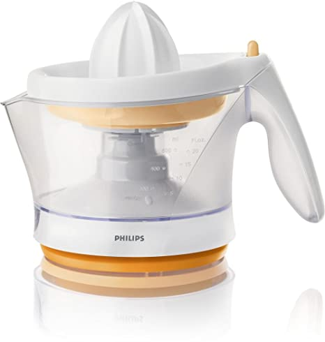 Philips - Exprimidor Hr274455, 25W, 0,6L, Blanco-Naranja