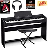 Casio Privia PX-770 Digital Piano - Black Bundle with X-Style Bench, Headphones, Instructional Book, Instructional DVD, and Austin Bazaar Polishing Cloth