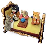 MusicBox Kingdom Bed with Playful Cats Decorative Box