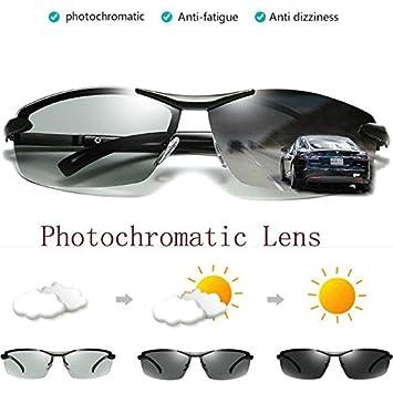 DILICN - Gafas de Sol polarizadas para Hombre (Lentes de Transición al Aire Libre)