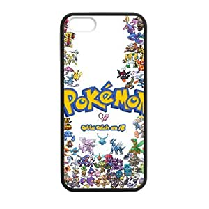 iPhone 5 Case, [Pokemon] iPhone 5,5s Case Custom Durable Case Cover for iPhone5 TPU case(Laser Technology)
