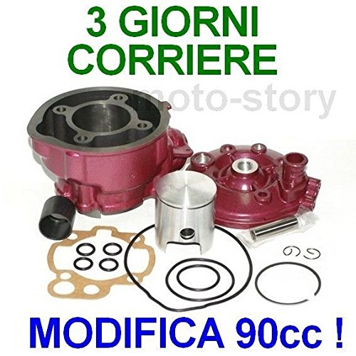 Unbranded 90cc Modifica D49 Racing Gruppo Termico Testa Kit per Gas Gas Rookie 2T 50 AM6 Nonapplicabile12F60810-22EA-4302-BB2A