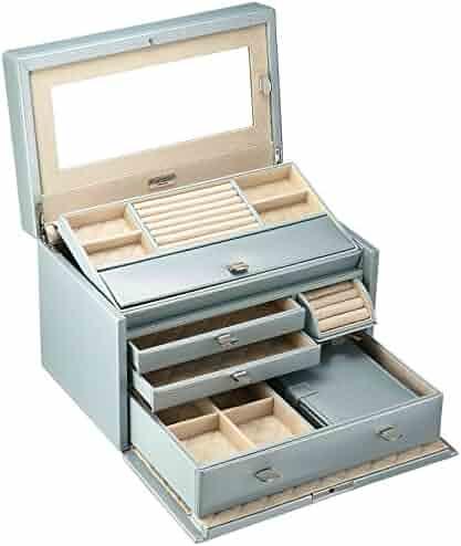 WOLF 315124 London Medium Jewelry Box, Ice