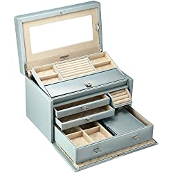 WOLF 315124 London Medium Jewelry Box, Ice