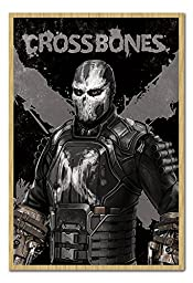 Captain America Civil War Crossbones Poster Magnetic Notice Board Beech Framed - 96.5 x 66 cms (Approx 38 x 26 inches)