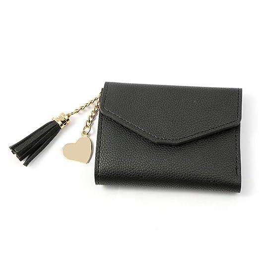 Girls Wallet Kingdom hearts Black wallets for women Wallet Womens Female  wallet Heart Pendant Tassel ( 6276ceac058