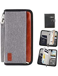 Travel Wallet Family Passport Holder,RFID Blocking Waterproof Document Organizer Case for Passports, ID Cards, Credit Cards, Flight Tickets, Money and Other Travel Accessories (Gray)