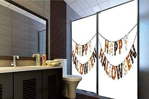 Horrisophie dodo 3D Privacy Window Film No Glue,Halloween,Happy