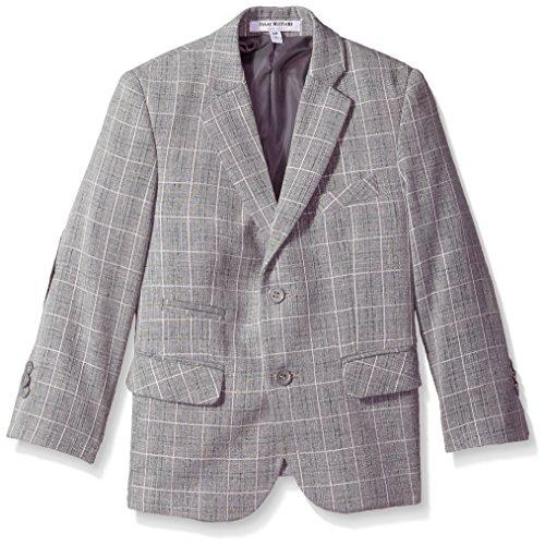 Isaac Mizrahi Little Boys' Check Blazer, Light Gray, 7