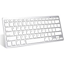 iPad Pro Keyboard, OMOTON Slim Bluetooth Keyboard for iPad Air 2/1, iPad Mini 4/ 3/ 2/1, iPad 4/ 3/ 2, iPhone 6s/ 6s Plus/ 7/ 7 Plus and other Bluetooth Enabled Device, For Apple,White