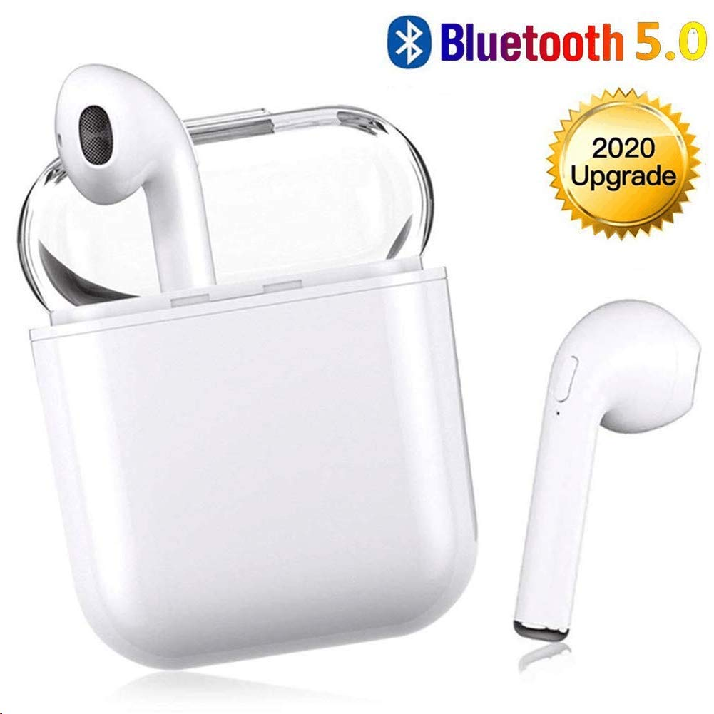 Wireless Earbuds Bluetooth 5.0 Headset Bluetooth Headphones 3D Stereo IPX5 Waterproof Pop-ups Auto Pairing Fast Charging Sports Earphone for Apple of airpods and Airpod Apple Wireless Earbuds
