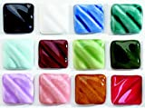 AMACO Low Fire Gloss 7 to 12 Glazes Class Pack 2, Assorted Colors, Set of 12 Pints