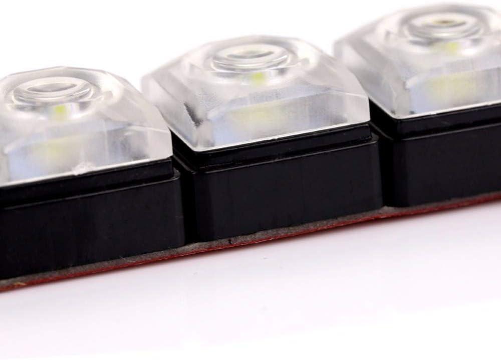DRL Wei/ß weiches R/öhre HEHEMM Flexible LED-Tagfahrlichter mit 6 LEDs universal
